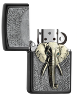 Zippo Gray Dusk Emblem Elephant