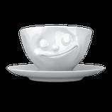 """Kaffeetasse """"glücklich"""" 200 ml"""