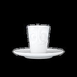 """Espresso-Mug 80 ml """"Lecker"""" weiß"""