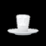 """Espresso-Mug 80 ml """"Verdutzt"""" weiß"""