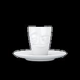 """Espresso-Mug 80 ml """"Verschmitzt"""" weiß"""