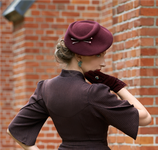Agatha Hat 50´s style winered