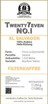 Twenty7even No. 1 - Filterkaffee (250 g)