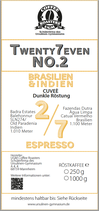 Twenty7even No. 2 - Espresso (250 g)
