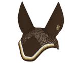 Mattes Ohrenkappen mit Stoffeinsatz zum Besticken
