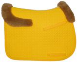 Mattes Schabracke ohne Lammfellkissen mit Rand vorne und hinten