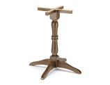 b506 Base in legno per tavoli rettangolari o rotondi  dim. base          65x65cm     dim.max piano   80x80cm - diam.90cm  altezza cm.72  peso kg. 9  completa di piedini regolabiliNome prodotto