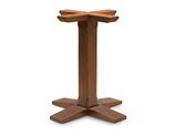 B525 Base in legno per tavoli quadrati o rotondi  dim. base          58x58cm     dim.max piano   80x80cm - diam.80cm  altezza cm.73  peso kg. 12  completa di piedini regolabili