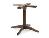 B505M Base in legno per tavoli quadrati o rotondi  dim. base          86x86cm     dim.max piano   100x100cm - diam.120cm  altezza cm.72  peso kg. 12  completa di piedini regolabili