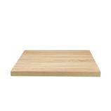 Piano in nobilitato con anima in truciolare, rivestito in  foglio melamminico che simula il legno di rovere naturale. MIS 59X59
