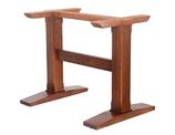 B523M DOPPIA  Base in legno per tavoli rettangolari