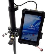 2m Stablösung für STONEX S70-G GIS Handheld, mit innenliegender Kabelführung im Carbonstab und Stabhalterung für S70-G