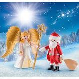 9498 Duo Pack Weihnachtsmann und Engel
