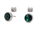 Titanohrstecker Emerald