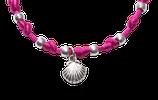 Jakobsmuschel Armband - magenta