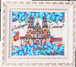 Küchen-Magnet Kathedrale Mosaik