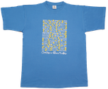 T-Shirt 'Pueblos del Camino' in hellblau