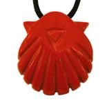 Anhänger Jakobsmuschel aus rotem Jaspis