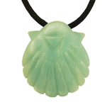 pendant scallop amazonite
