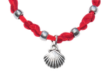 scallop satin bracelet - red