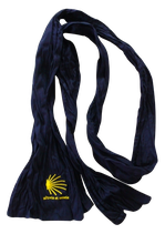 Crinkle-Schal mit hochwertiger Einstickung