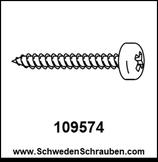 Schraube wie # 109574 - 4 Stück