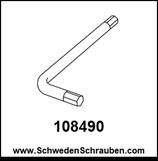 Inbus-Schlüssel wie # 108490 - 1 Stück