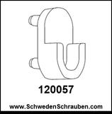 Halter Kleiderstange silber wie # 120057 - 1 Stück