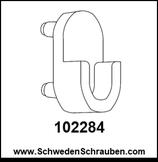 Halter Kleiderstange weiß wie # 102284 - 1 Stück