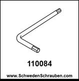 Inbus-Schlüssel wie # 110084 - 1 Stück