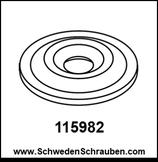 Wandbefestigung Unterlegscheibe wie # 115982 - 1 Stück