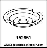 Wandbefestigung Unterlegscheibe wie # 152651 - 1 Stück