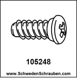 Schraube wie # 105248 - 4 Stück