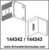 Wandbefestigung Winkel wie # 144342 / # 144343