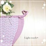 天使のパンツ【オーガニックコットン・リーフ柄Pink】