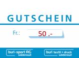 50Fr. Gutschein