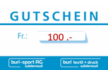 100Fr. Gutschein