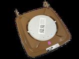 Bio-Filterdeckel für 120 Liter Biotonnen (in braun) für SSI Schäfer Tonnen (Griffrohrbreite von ca. 35,5cm)