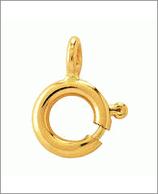Federring 925-Silber vergoldet, 9mm
