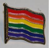 Regenbogenanstecker Flagge Metall ca. 1,5 x2,0 cm