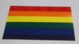 Regenbogenflagge Aufkleber rechteckig ca. 10x15 cm