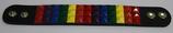 Leder Armband Regenbogen ca 3,5x22,0 cm
