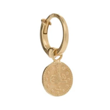 GOLD COIN CREOLE EARRING by Aynur Abbott