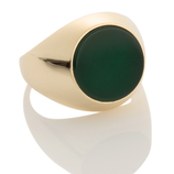 JADE SIGNET RING by Aynur Abbott