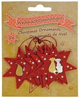 """Filz-Weihnachtsanhänger """"Hunde"""", 5er-Set"""