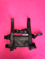 Chest rig vegan leather black buckles