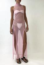 Pink Mesh Dress