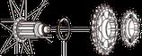 11Sハブ→10/9/8Sカセット用スペーサー(1.85mm)[Y4T724000]
