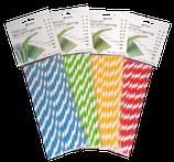 Papierstrohhalme Steifen Mix 1 - 100 Stk