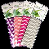 Papierstrohhalme Steifen Mix 2 - 100 Stk